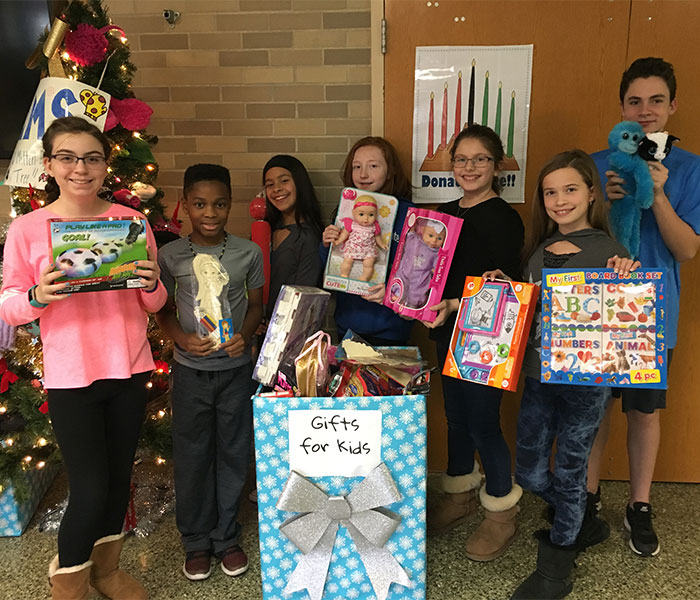 Gifts On and Under the Tree at Elwood Middle School