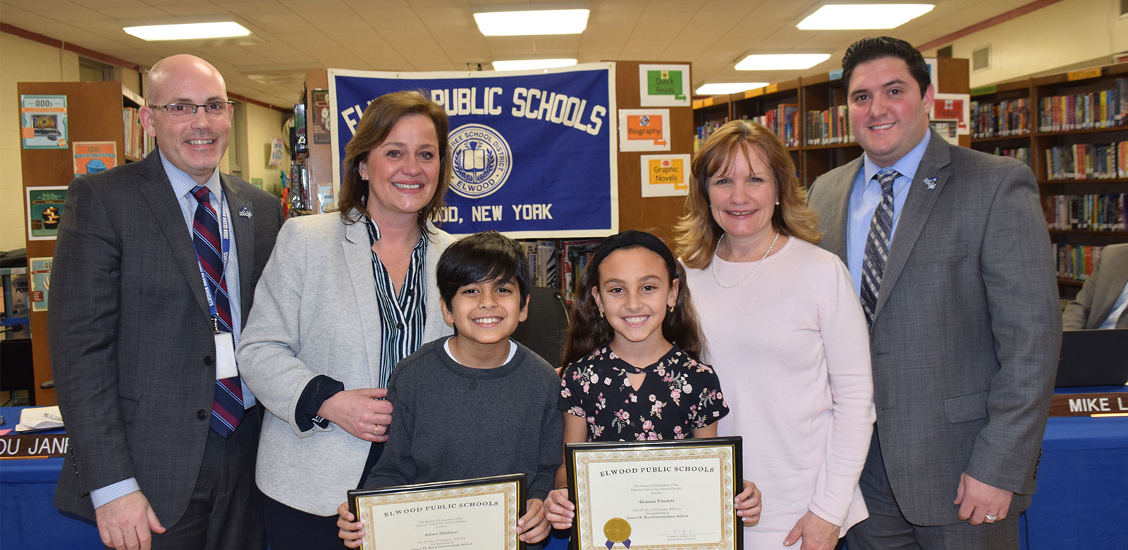 Board recognizes Boyd student council co-presidents photo
