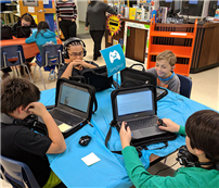 Exposure to the World of Coding at Elwood Middle School photo